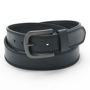 Men's Dickies Black Leather Belt NWT